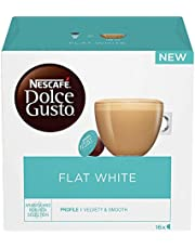 NESCAFÉ Dolce Gusto Flat White Coffee Pods, 16 Capsules (48 Servings, Pack of 3, Total 48 Capsules)