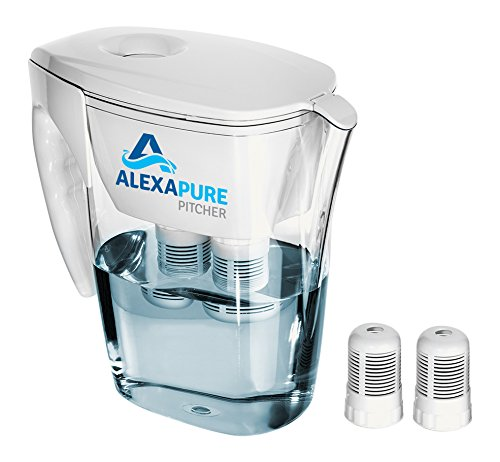 Alexapure Pitcher Water Filtration System, Reduces up to 92 Contaminants, BPA-Free 8-Cup Reservoir by Alexapure