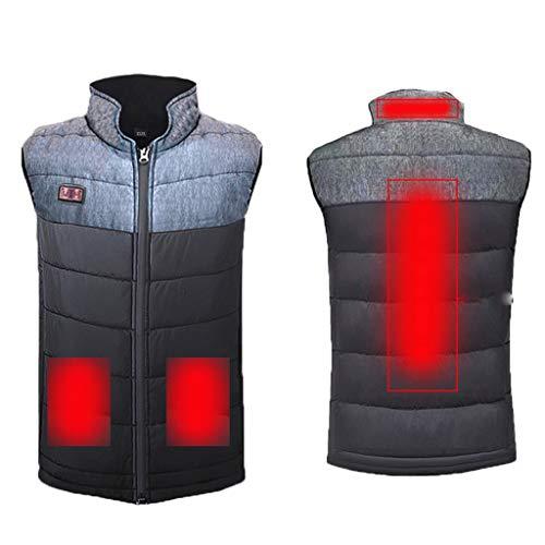 GNYD Electric Heated Vest for Men Women, Smart USB Outdoor Heating Warm Jacket, Lightweight – Warm Gilet Coat for Winter…