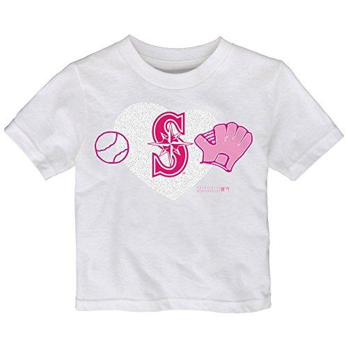 MLB Seattle Mariners Toddler Girls Love Baseball Tee, 2T,...