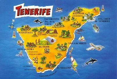 Large Map of Tenerife,Spain Fridge Magnet - Photo Fridge Magnet Ace Geordie Collectables