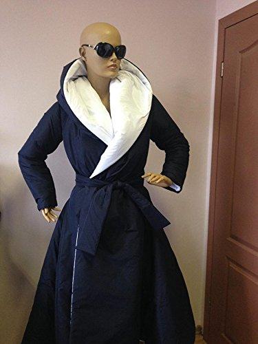 Women's Winter Hoodie Down Coat/ Wraped Puffer Two Faces Coat