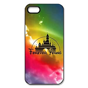 Case For Ipod Touch 5 Cover Hard Back Protective-Unique Design Cute Forever Young Disney Castle Case Perfect as Christmas gift(2)