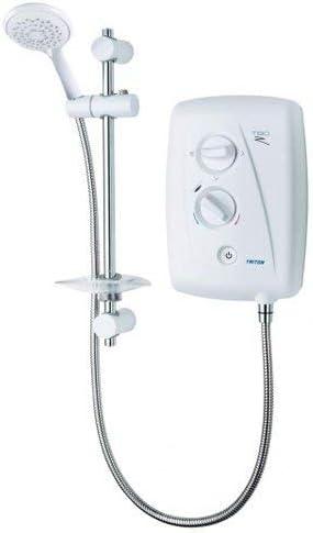 9.5kW Triton T80z Fast Fit Electric Shower White Modern Bathroom