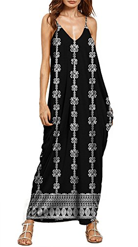 Anatoky s Tie Women Strap Boho Dress Xe Spaghetti Maxi Dyed p6rpwF