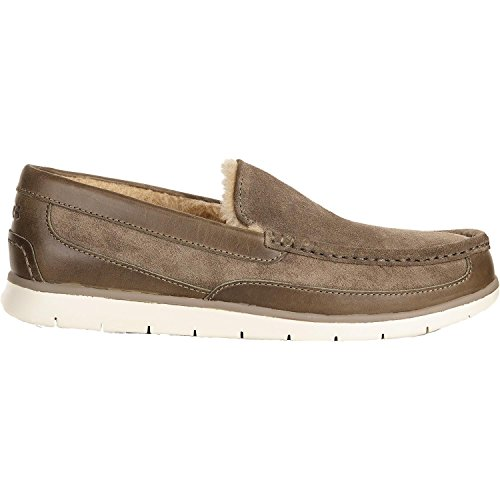 UGG Men's Fascot Dark Fawn Slipper 10 D (M) by UGG