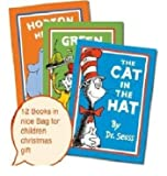img - for Dr. Seuss 12 books set collection in a bag(The cat in the hat,The cat in the hat comes back,Horton hears who,One fish two fish red fish blue fish,Green eggs and ham,Oh the places you'll go,There's a wocket in my pocket,The lorax,Fox in socks...) book / textbook / text book