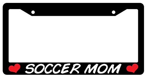 Soccer Mom Black Plastic License Plate Frame