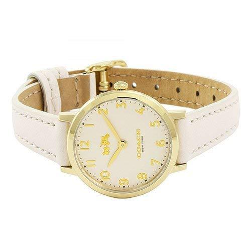 Coach Women S 14502564 Ultra Slim White Leather Strap