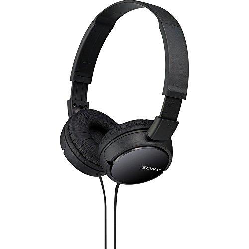 Sony ZX Series Wired On-Ear Headphones, Black MDR-ZX110