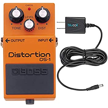 boss ds 1 distortion guitar effects pedal bundle with blucoil power supply slim ac. Black Bedroom Furniture Sets. Home Design Ideas