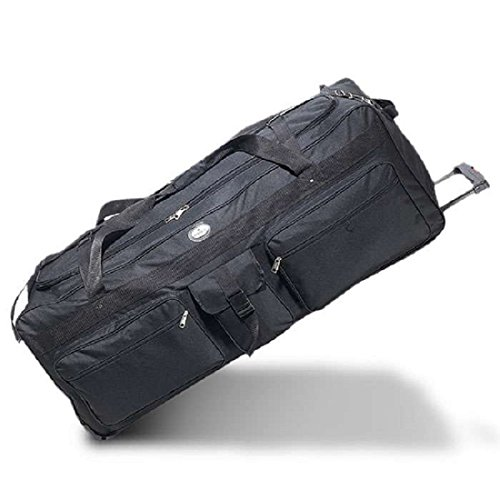 Bagiva Everest Wheeled Duffel 42-Inch Travel Gear Luggage Sports Gym Bag(Black,42-Inch) ()