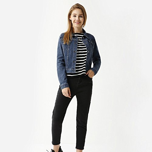 color Caída Li Chaqueta Corto A Shop B De Jeans Xiang Abrigo Suelta Tamaño Blusa Casual Shi L Mujer 4rq4nFBtO