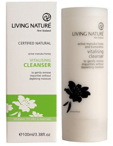 (Living Nature Certified Natural Vitalising Facial Cleanser for Dry Skin - 100 ml / 3.38 oz)