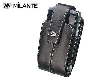 MILANTE ABRUZZI BLACK LEATHER CASE NOKIA 6682 6681 BLACKBERRY 8700 S (Blackberry 7130e Leather Case)