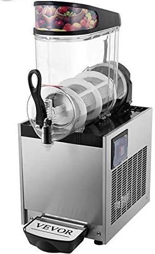 VEVOR Máquina de Granizado de Bebidas Congeladas Acero Inoxidable 12L 500W Máquina de Bebidas Congelada Máquina de Fusión de Nieve