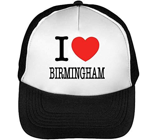1GD I Birmingham Gorras Hombre Snapback Beisbol Negro Blanco