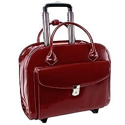 McKleinUSA GRANVILLE 96146A Red Wheeled Ladies\' Laptop Case