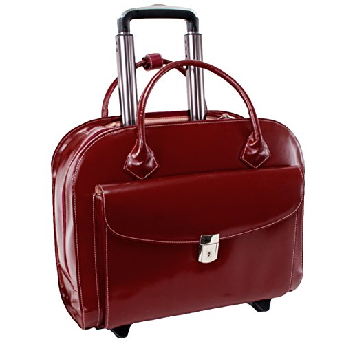 McKleinUSA GRANVILLE 96146A Red Wheeled Ladies' Laptop Case by McKleinUSA