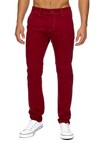 Fit Hommes Rouge Pantalons Avec Légers Une En Arizonashopping slim Droite H1736 Chino Tissu Jambe Les Jean Élastique Vin Chinos Hosen wtYxHBXqp