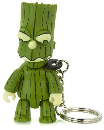 Treeman Bart Green : The Simpsons / Toy2r Qee Crossover Keychain Collection ~2.75