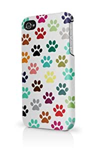 Cat Foot Prints iPhone 5 Case - Fits iPhone 5 Full Print Plastic Snap On Case