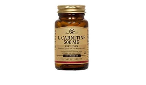 Solgar L-Carnitina Comprimidos de 500 mg - Envase de 30 ...