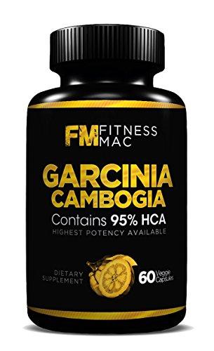 Extracto de Garcinia Cambogia puro 95% HCA - supresor del apetito y suplemento para bajar de peso, hecho en los E.e.u.u., FDA aprobó instalaciones, 60 cápsulas - 1.400 mg por porción