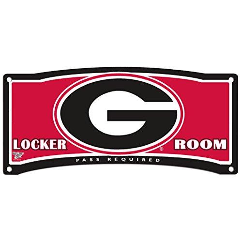 - WinCraft NCAA University of Georgia Plastic Locker Room Sign, 8.25 x 19, Black