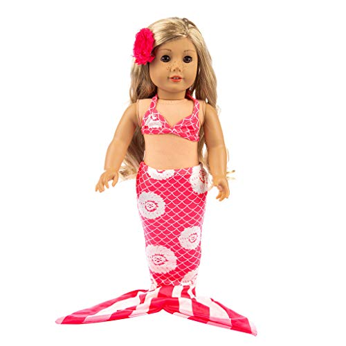 - Alimao Summer Clothes Outfits Mermaid Swimsuits Set, Fits Girl Doll and 18 Inch Dolls,Reward Gift for Girls
