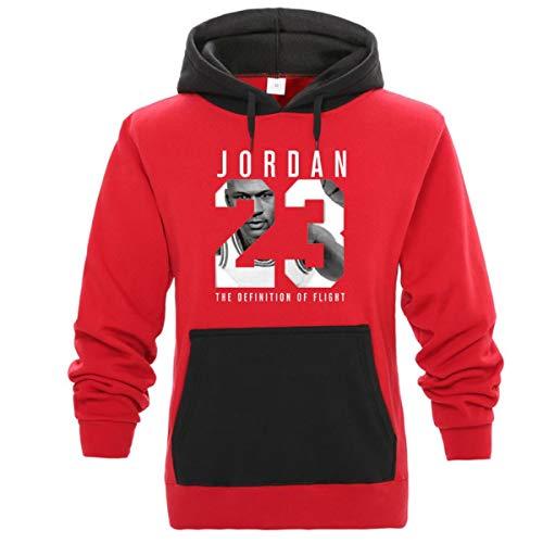 Jordan Hoodie Men 23 Patchwork Letter Print Sweatshirt Solid Hoody Pullover Tracksuits Red Black