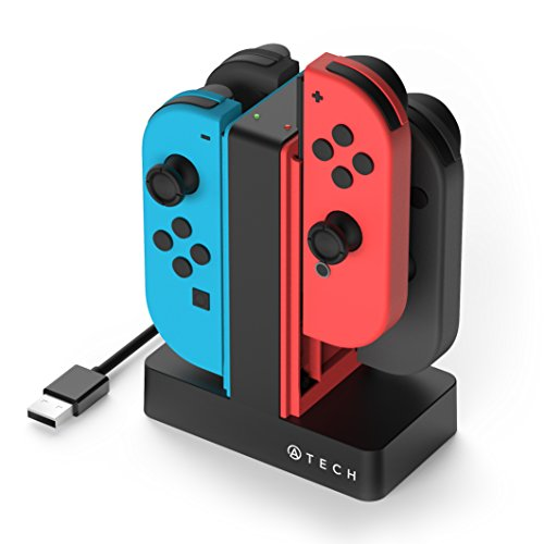 ATECH INNOVATION Nintendo Switch Joy-Con Charging Dock 4 in 1 Charger Station, Compatible with Joy-Con Controllers, with LED Indicator