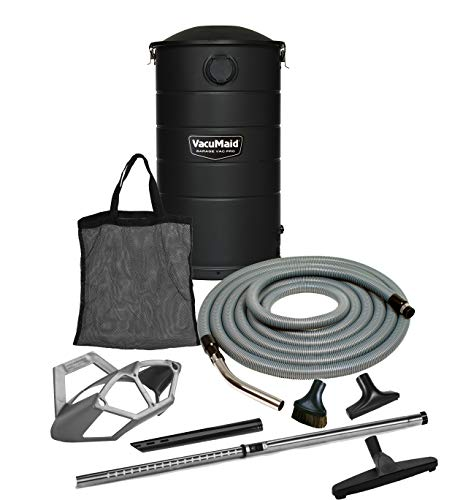 VacuMaid GV50BLKPRO Professional Wall Mounted Garage and Car Vacuum with 50 ft. Hose and Tools ()