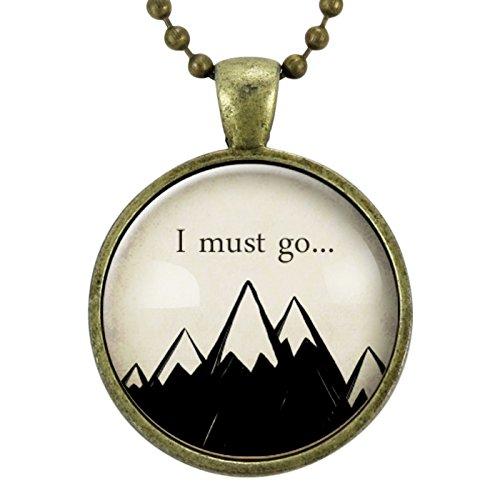 72539b45720cd Amazon.com: Mountain Necklace, John Muir Travel Quote Nature Jewelry ...