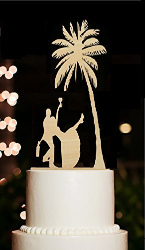 Beach wedding cake toppers tree funny rustic drunk bride and groom beach wedding cake toppers tree funny rustic drunk bride and groom wedding cake toppers for engagement junglespirit Images
