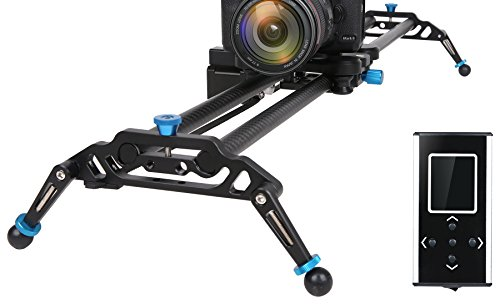 GVM Motorized Camera Slider DSLR Dolly with Automatic Looping Real Time Shooting Time Lapse Shots, Very Light Carbon Fiber, 48'' L by GVM