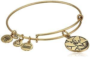 "Alex and Ani Because I Love You ""Grandmother"" Rafaelian Gold-Tone Expandable Bangle Bracelet"
