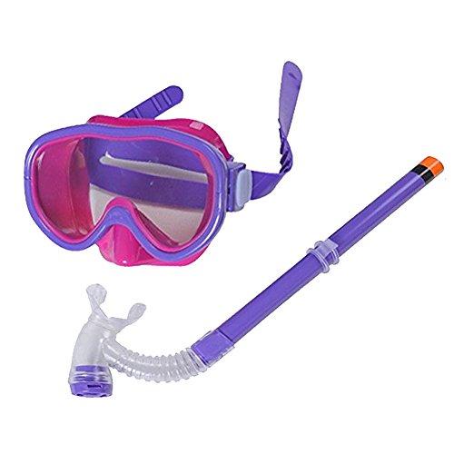 (Smolisi Kids Youth Water Sports Silicone Scuba Swimming Swim Diving Mask Snorkel Glasses Anti Fog Goggles Set(Purple))