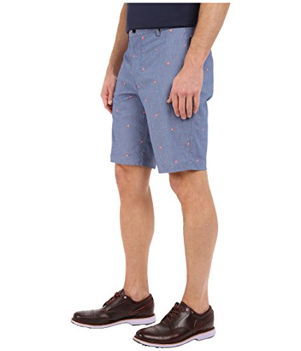 Nike Modern Fit Print - Pantalón corto para hombre Midnight Navy/Light Crimson/White/Wolf Grey