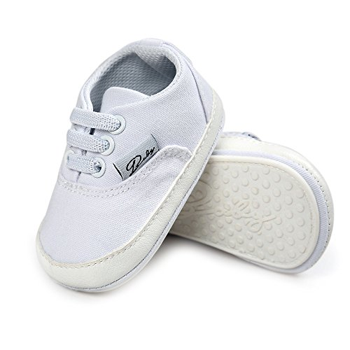 Baby Canvas Shoes - Infant Girls Boys Sneakers Anti-Slip Toddler First Walkers Slip On Newborn Crib ()