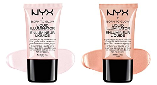 2 NYX Born To Glow Liquid illuminator Full Set
