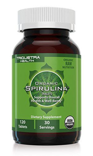 Organic Spirulina Tablets: Purest & Highest Quality Source of Organic Spirulina - 4 Organic Certifications: Certified Organic by USDA, Ecocert, Naturland & OCIA Ð Natures Ultimate Green Superfood Improves Health of Entire Body, 120 tablets (30 servings)