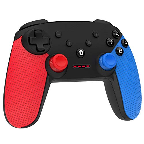Wireless Controller Switch for Nintendo Switch, Momen Enhanced Vibration Switch Gaming Remote Pro Controller Gamepads with Gyro Axis - (Red-Blue-Black)