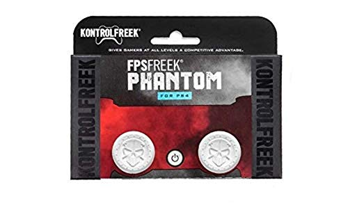 KontrolFreek FPS Freek Phantom for PlayStation 4 (PS4) Controller | Performance Thumbsticks | 2 High-Rise Concave | White 1