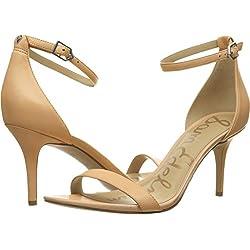 Sam Edelman Women's Patti Dress Sandal, Classic Nude Leather, 10 Wide US