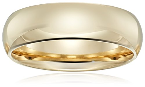 Standard Comfort-Fit 14K Yellow Gold Band, 6mm, Size 8 by Amazon Collection