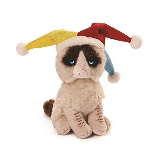 (GUND Grumpy Cat Jester Beanbag Stuffed Animal Plush,)
