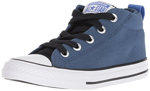Converse Boys' Chuck Taylor All Star Street Sneaker, Mason Blue/Black/White, 3 M US Little Kid ()