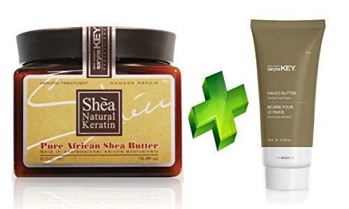 - Saryna Key Damage Repair Pure African Shea Butter Mask, 16.9 Ounce + hand cream 2.5 Ounce - KIT