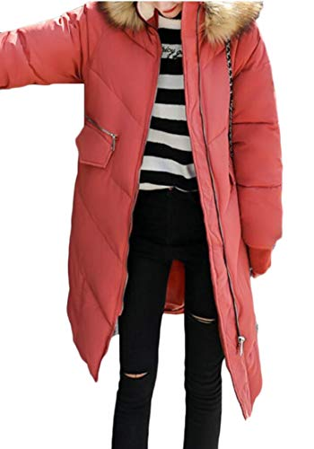 Women's Parka 2 Loose Overcoat Long Down Puffer EKU Coat Hooded Jacket qX1RxqdFw